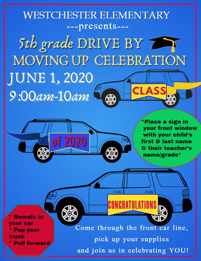 Fifth Grade Drive By Moving Up Celebration